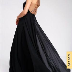 Lulu's Dresses - Mythical kind of love black maxi dress lulus